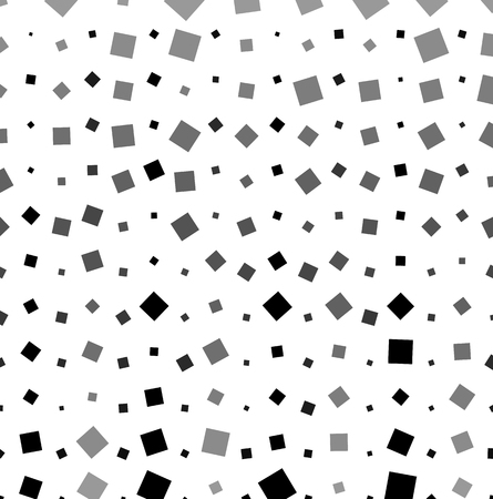 abstractionism: Pattern, texture of scattered, random squares. Vector art.