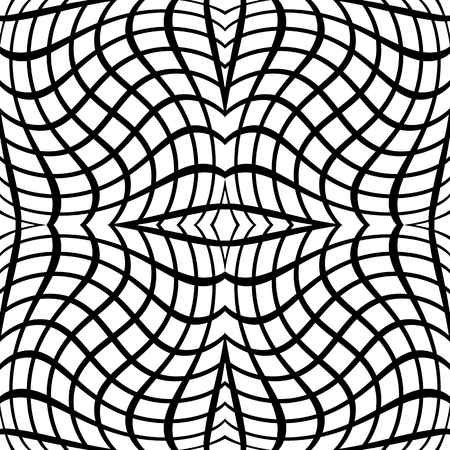 Abstract monochrome vector pattern  background. Seamlessly repeatable. Illustration