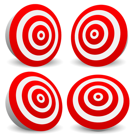 precision: Red target vector icon. Precision, efficiency, effectiveness.