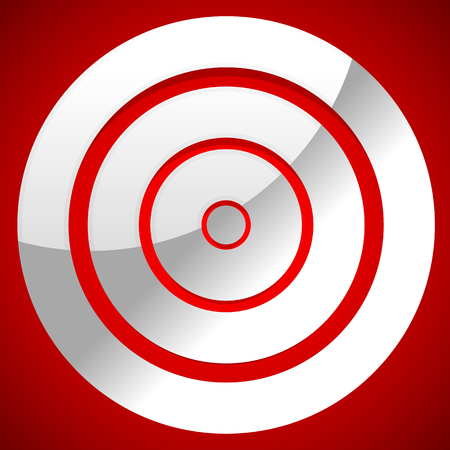 sharpshooter: Red target vector icon. Precision, efficiency, effectiveness.