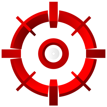 cross hair: Target mark, reticle, cross hair vector graphic