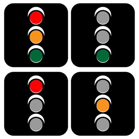 trafficlight: Traffic lamps, traffic lights, semaphore vector illustration