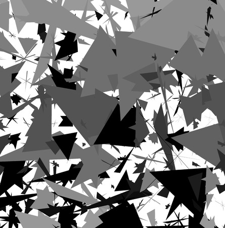 pointed: Abstract artistic edgy pattern, background with randomly scattered, pointed, angular shapes