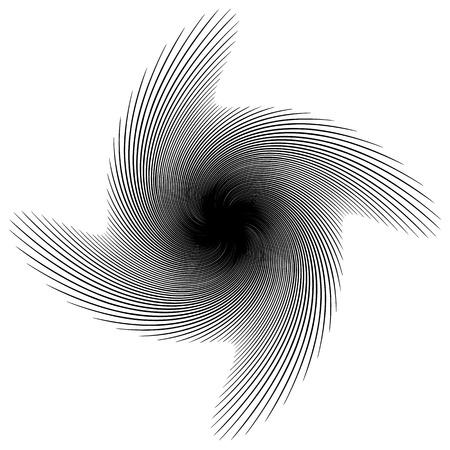 spire: Spiral, vortex, swirl or twirl abstract monochrome graphic. Vector.