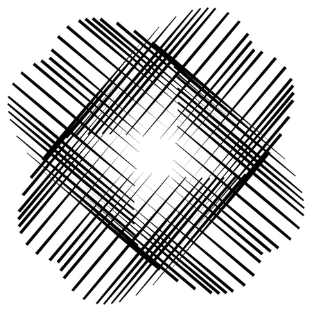abstract cross: Abstract cross element made of pointed lines. X shape, Vector art.