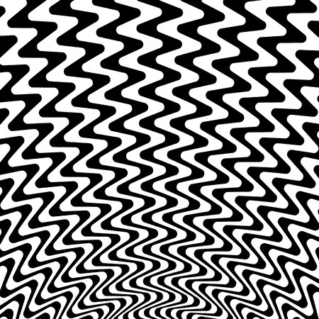 Abstract starburst background with zigzag, wavy lines Illustration