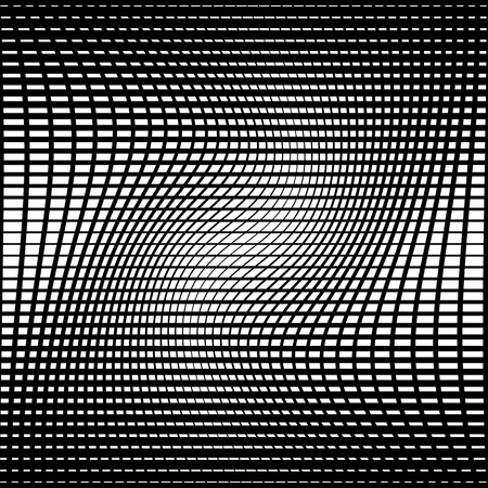 torsion: Abstract grid, mesh background with torsion effect. Distorted intersecting lines. Illustration