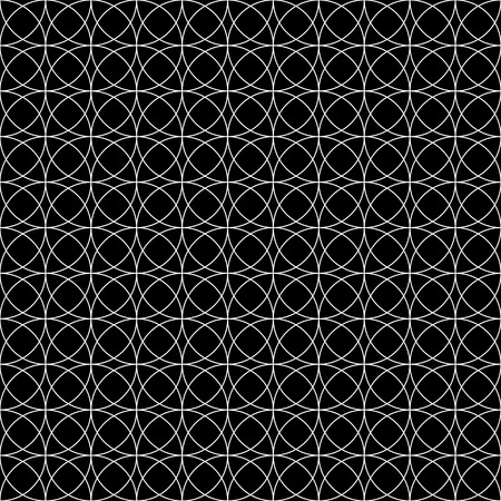 tileable background: Seamless monochrome pattern with intersecting circles. Abstract tileable background.