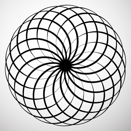 eddy: Abstract circular element. Rotating, swirly shape. Abstract vector Illustration