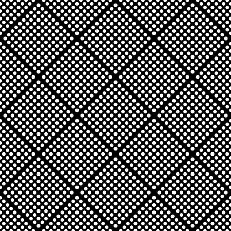 Seamless pattern con mosaico di cerchi. Monocromatico ripetibile sfondo / texture.