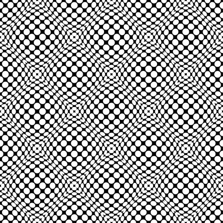 convex: Circles with 3d convex, bulging distortion effect. Abstract monochrome background, pattern. Seamlessly repeatable.