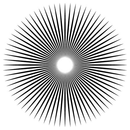 converging: Bursting, radiating lines. Converging, pointed abstract element. Vector