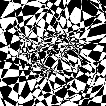 fragments: Shattered texture. Abstract edgy monochrome background in black and white. Random fragments, tessellating angular shapes.