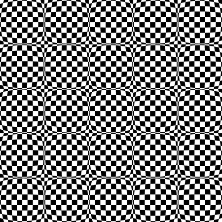 abstractionism: Repeatable checkered abstract pattern  background  texture with distortion. Illustration