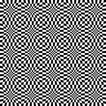 distortion: Repeatable checkered abstract pattern  background  texture with distortion. Illustration