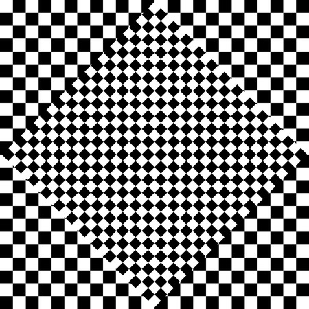 eyestrain: Contrasty checkered background. Abstract, surreal texture. Vector.