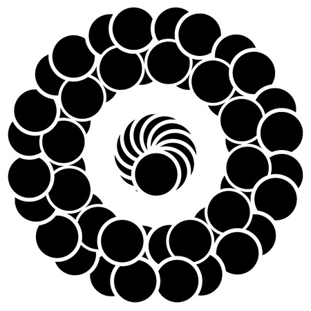 overlapping: Abstract circular element with overlapping circle shapes