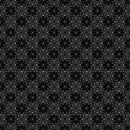 dense: Geometric pattern with dense, intersecting, thin lines. Symmetric monochrome grid, mesh pattern. Seamlessly repeatable.