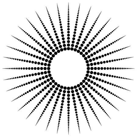 motif radial Dotted, forme. Résumé élément de design. - Vector art, illustration.