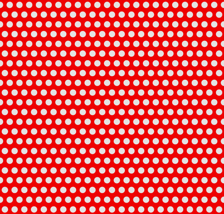 duotone: Red and white, duotone dotted, polka dot background. Vector illustration. Illustration