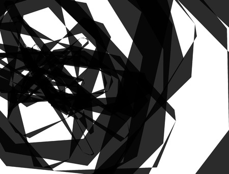 anomalous: Abstract monochrome texture with overlapping angular, edgy shapes. Vector Illustration