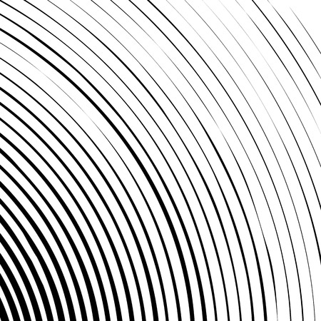 monocrome: Grungy, concentric circles from corner. Abstract monochrome background. Illustration