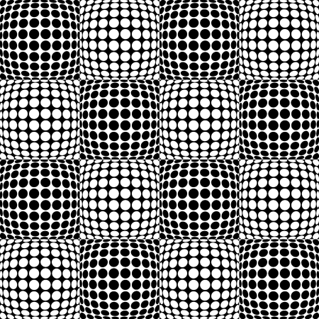 amorphous: Circles with 3d convex, bulging distortion effect. Abstract monochrome background, pattern. Seamlessly repeatable.