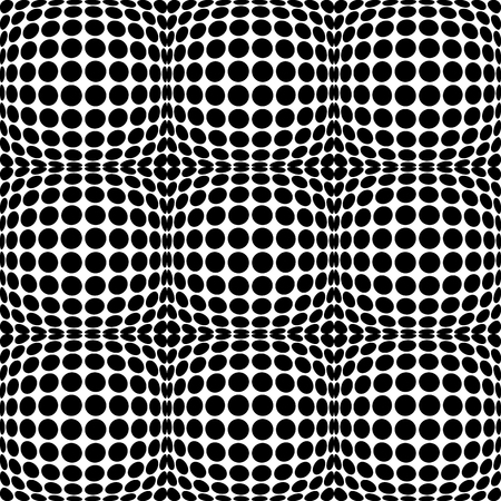 anomalous: Circles with 3d convex, bulging distortion effect. Abstract monochrome background, pattern. Seamlessly repeatable.