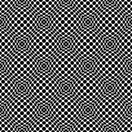 protuberant: Circles with 3d convex, bulging distortion effect. Abstract monochrome background, pattern. Seamlessly repeatable.