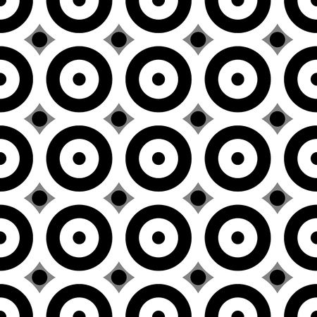 circulos concentricos: Patr�n sin fisuras con los c�rculos conc�ntricos. vectorial blanco y negro.