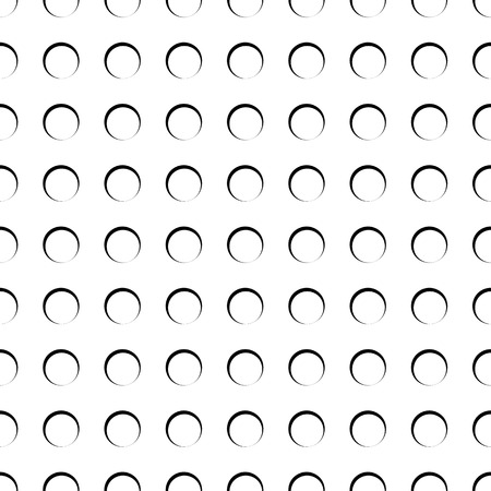 abstractionism: Circles, rings seamless pattern. Monochrome abstract minimal background. Vector. Illustration