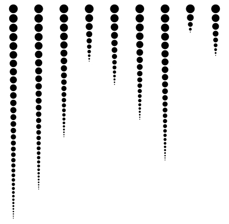 spacing: Set of circles in lines with equal spacing (4px).