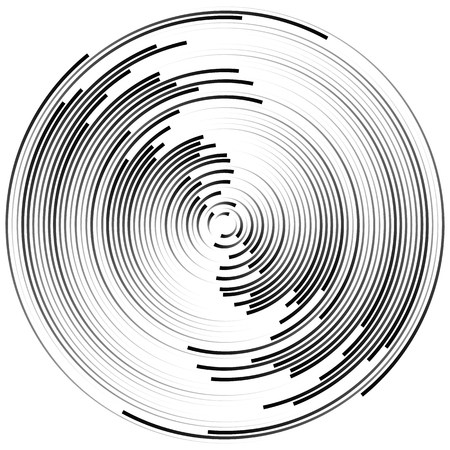 ripple effect: Concentric circles abstract element. Radiating, radial circles, ripple effect.