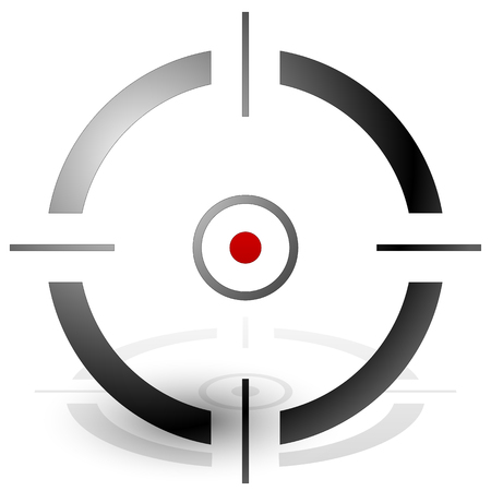reticule: Crosshair, cross-hair, target mark vector icon. precision, accuracy concepts.