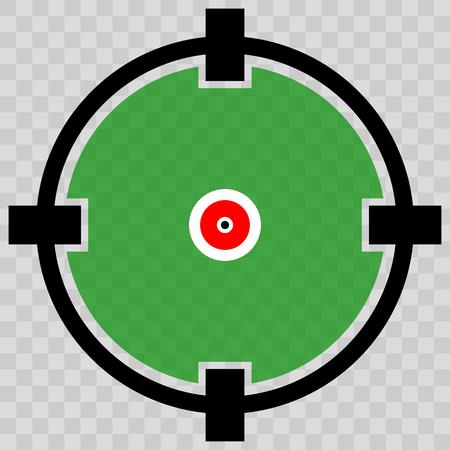 reticle: Cross hair, target mark, Circular reticle vector illustration.