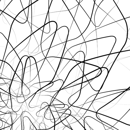 intersecting: Random intersecting wiggly, sinuous, tangled lines. abstract vector.