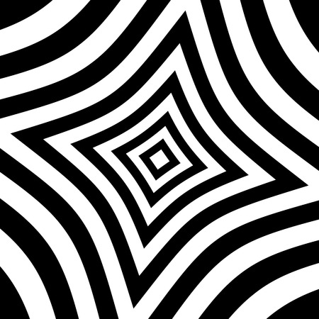 distortion: Alternating black, white squares with distortion. Abstract background.