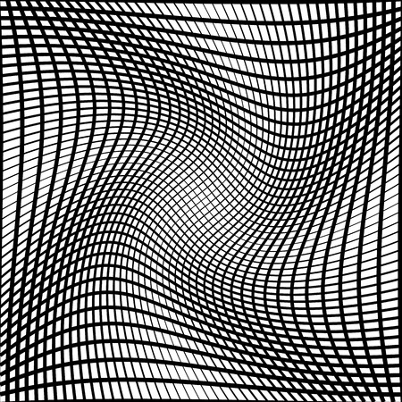 anomalous: Abstract grid, mesh background with torsion effect. Distorted intersecting lines. Illustration