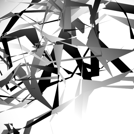 shards: Edgy, angular overlapping shapes. Abstract geometric image. Vector. Illustration