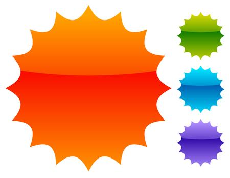 spiky: Empty badge, price flash. Vector illustration. Illustration