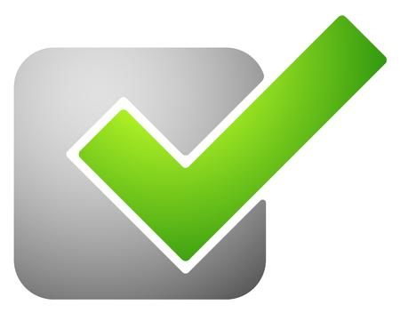 answer approve of: Green check mark, Tick symbol, icon. Vector illustration. Illustration