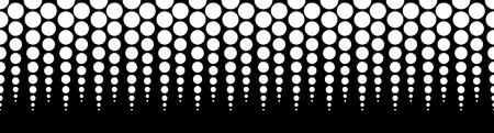 horizontally: Halftone, dotted vector pattern, background. (Horizontally seamless.) - Vector art, illustartion.
