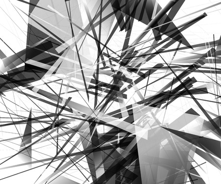 overlapping: Abstract monochrome pattern  texture with edgy, overlapping rectangular shapes.