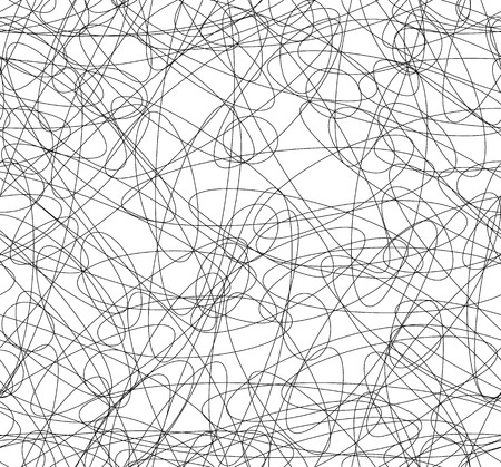Abstract repeatable squiggly lines seamless pattern  texture.
