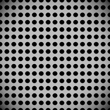 punched metal surface: Metal sheet, surface pattern. Perforated, punched metal.