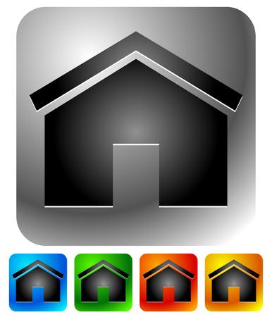 집 아이콘 - 집, 아파트, 임대료, 집, 홈페이지 또는 주택 개념. 일러스트