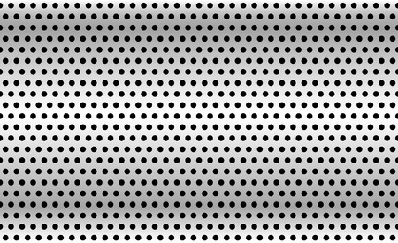 perforation texture: Perforated metal background. Industrial backdrop, metallic sheet with dimples. Repeatable pattern.
