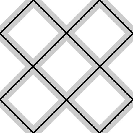 blocky: Geometric, minimalist pattern with intersecting squares. Monochrome, grayscale vector texture.