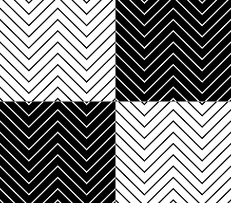crisscross: Zig zag, wavy lines seamless monochrome pattern.