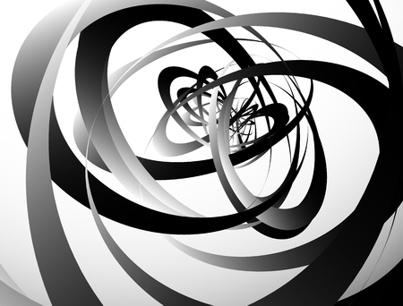anomalous: Abstract monochrome texture with overlapping circular, oval shapes. Grayscale artistic background Illustration